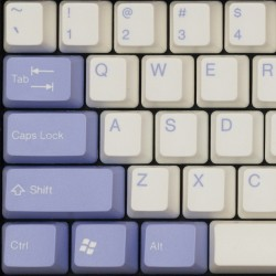 Tai-Hao White & Light Purple ABS Double Shot Keycap Set