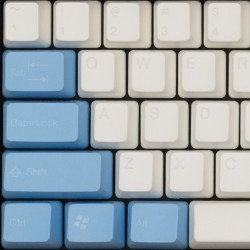Tai-Hao White Tender Cloud ABS Double Shot Keycap Set