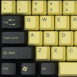 Tai-Hao Yellow & Black / Bumblebee PBT Double Shot Keycap Set