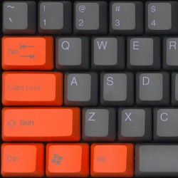 Tai-Hao Dim Gray & Sweet Orange PBT Double Shot Keycap Set