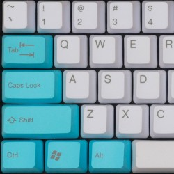 Tai-Hao White & Tiffany Blue PBT Double Shot Keycap Set