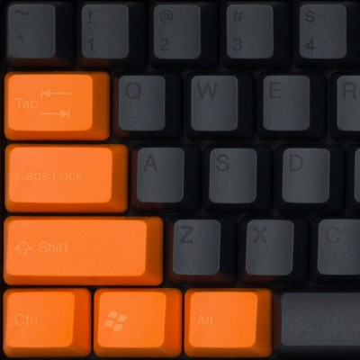 Tai-Hao Carbon Black & Snow Carrot ABS Double Shot Keycap Set