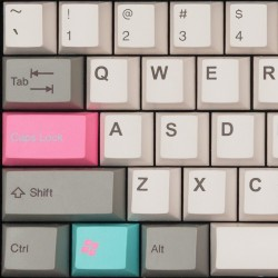 Tai-Hao Concrete Pink Cubic ABS Double Shot Keycap Set
