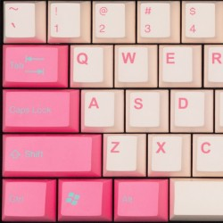 Tai-Hao Flamingo Cubic ABS Double Shot Keycap Set