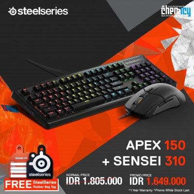 Promo Steelseries Apex 150 + Sensei 310