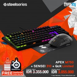 Promo Steelseries Apex M750 + Sensei 310 + QcK Limited