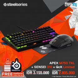 Promo Steelseries Apex M750 TKL + Sensei 310 + QcK Limited