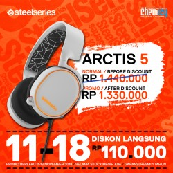Promo Steelseries Arctis 5 White