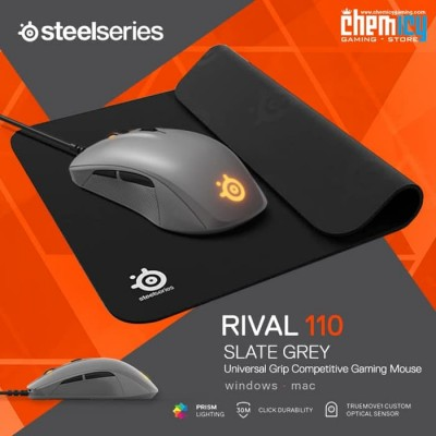 Promo Steelseries Rival 110 Slate Grey + QcK Mini