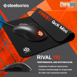 Promo Steelseries Rival 110 Black + QcK Mini