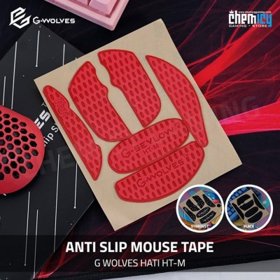 Anti-slip Mouse Tape G Wolve Hati - Red