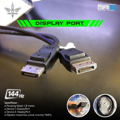 NYK Kabel DisplayPort to DisplayPort 1.8m Display Port