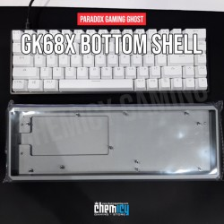 Paradox Ghost DIY GK68X Bottom Shell - Acrylic Clear