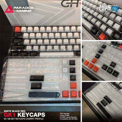 Paradox GK1 Keycaps - Grey Red