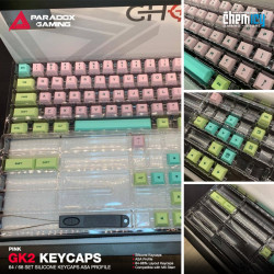 Paradox GK2 Silicone Keycaps - Pink