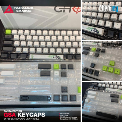 Paradox GSA Keycaps - Panda Edition