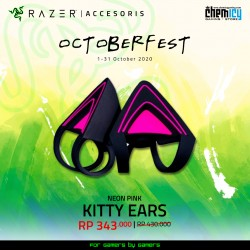 Razer Kitty Ears Neon Purple
