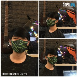 Masker Gaming Scuba Premium Green Light