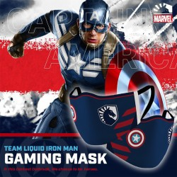 Masker Gaming Scuba Premium Team Liquid Marvel Edition - Captain America