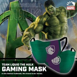 Masker Gaming Scuba Premium Team Liquid Marvel Edition - Hulk