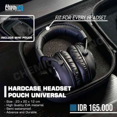 Hardcase Headset Pouch Universal Carrying Case