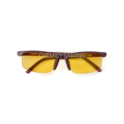 Hindar Anti Blue Light Gaming Glasses - Brown Amber