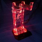Akrilik Headset Stand with LED