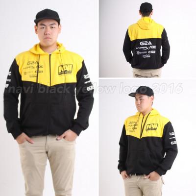 Navi Yellow Black Logo Hoodie 2016