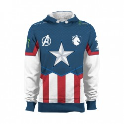 Team Liquid Marvel Captain America Jumper