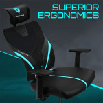 ThunderX3 YAMA1 Gaming Chair - Cyan