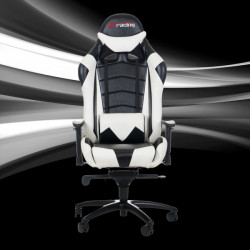 STracing Gaming Chair Racing Series - Black White
