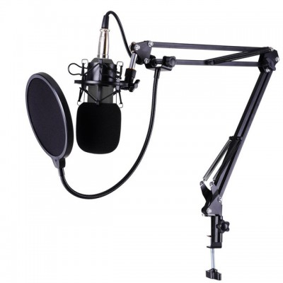 BM800 Condenser Microphone + Stand Arm Mic+ Pop Filter