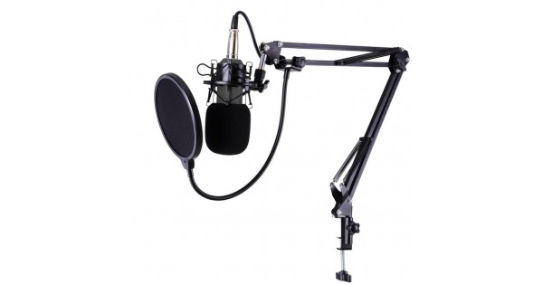 Bm800 Condenser Microphone Stand Arm Mic Pop Filter