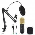 BM900 Condenser Microphone + Stand Arm Mic + Pop Filter