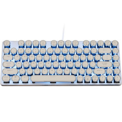 Magicforce Smart 82 Typewriter Silver Case Ice Blue LED - Cherry MX