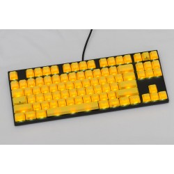 Varmilo VA87M Black Case Yellow PBT White LED Gateron