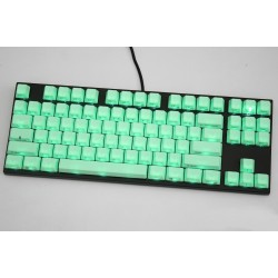 Varmilo VA87M Black Case Mint Green PBT White LED Cherry MX
