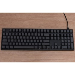 Varmilo VA108M Black Case Dark Gray PBT Ice Blue LED Gateron