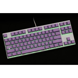 Varmilo VA87M White Case Purple PBT Green LED Gateron