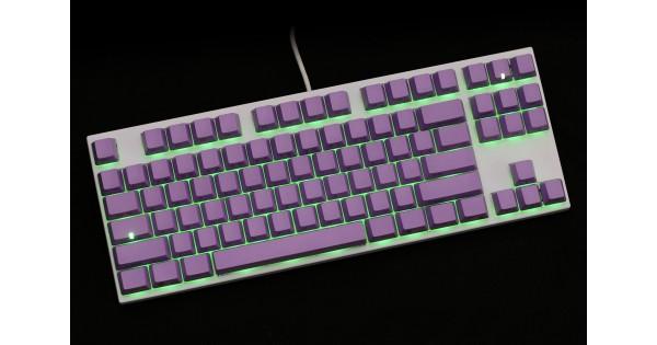 Varmilo Va87m White Case Purple Pbt Green Led Gateron
