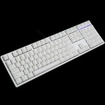 Ducky One Fullsize White Non-Backlit PBT Apple Green Legends