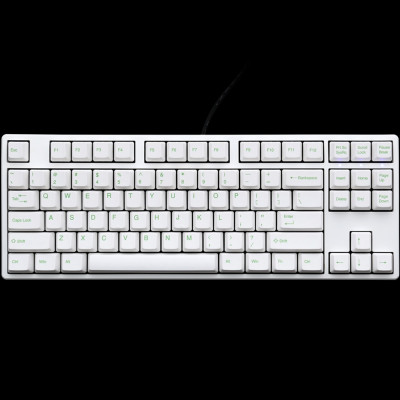 6bb6bd624a6 Ducky One TKL White Non-Backlit PBT Apple Green Legends