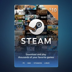 Steam Wallet Code $10