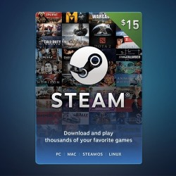Steam Wallet Code $15