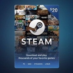 Steam Wallet Code $20