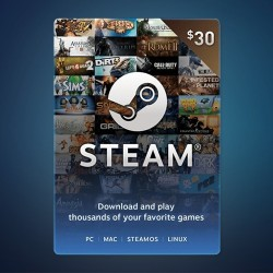 Steam Wallet Code $30
