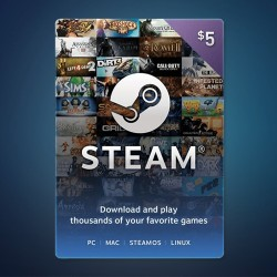 Steam Wallet Code $5